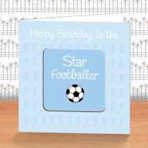 Light Blue Football Coaster Ca