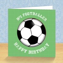 Footballer Coaster Card