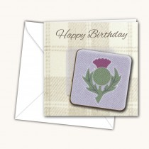 Thistle Light Coaster Card