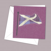 Pink Flag Greeting Card