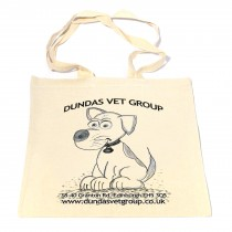 Cartoon Dog Cotton Shopper