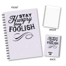 Stay Hungry' Wiro Notebook