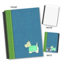 Blue Scottie Dog Coil Notebook