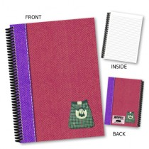 Kilt Red Coil Notebook