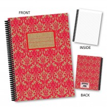 Red Patterned Notebook