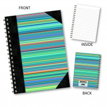 Multi Stripe Wiro Notebook