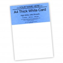 P -White Card 290gsm -15 sheets