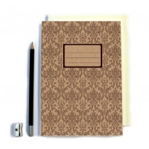 Brown Patterned Notebook