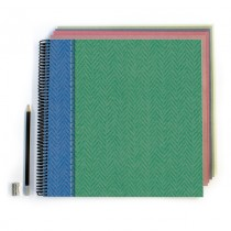 Green/Blue Tweed Scrapbook