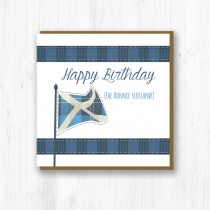 Saltire Birthday Card