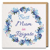 Best Relation Textured Greeting Card Blue