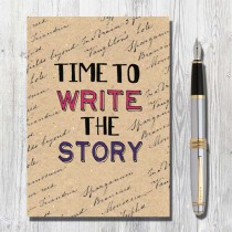 A5 Eco Notebook-Time to Write
