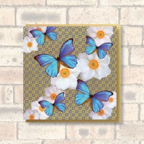 Greeting Card-Blue Butterflies