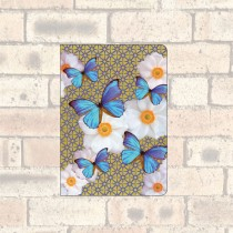 A6 Notebook-2 Round Corners-Blue Butterflies