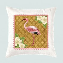 Cushion-Flamingo +Tag