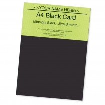 P -Smooth Black Card 220gsm