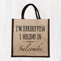 I Holiday In-Printed Jute Shopper+Tag