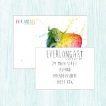 Linen Double Sided Postcards