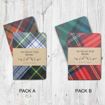 Two Toaty Wee Tartan Notebooks