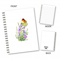 Butterfly & Floral Wiro Notebo