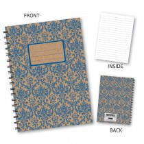 Blue Patterned Wiro Notebook