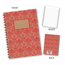 Red Patterned Wiro Notebook
