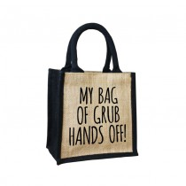 Grub-Hands off Cute Jute Bag