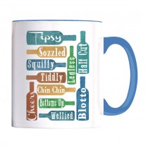 Chin Chin blue handled mug