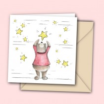 Falling Star Watercolour Greeting Card