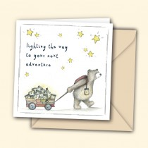 Lighting the Way Watercolour Greeting Card