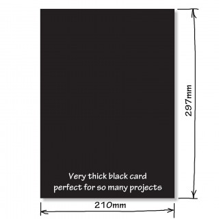 Extra Thick Black Card product image