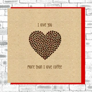 Eco True Love Card-Coffee Beans product image