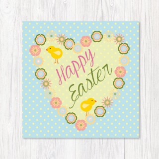 Happy Easter Card-Heart product image