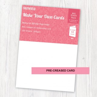 A3 Creased White Hammer Cards (100) product image