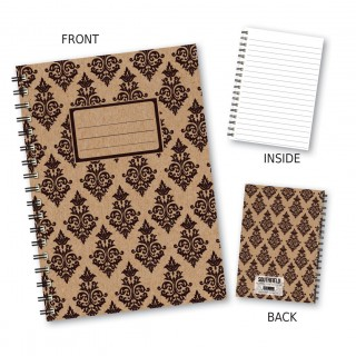 Black Patterned Wiro Notebook product image