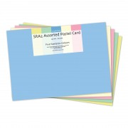 Card Pastel Assorted 6 Colours