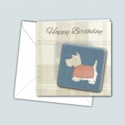 Scottie Blue Coaster Card