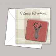 Stag Coaster Card