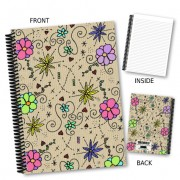 Coloured Floral Notebook
