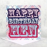 Birthday Hen Greeting Card