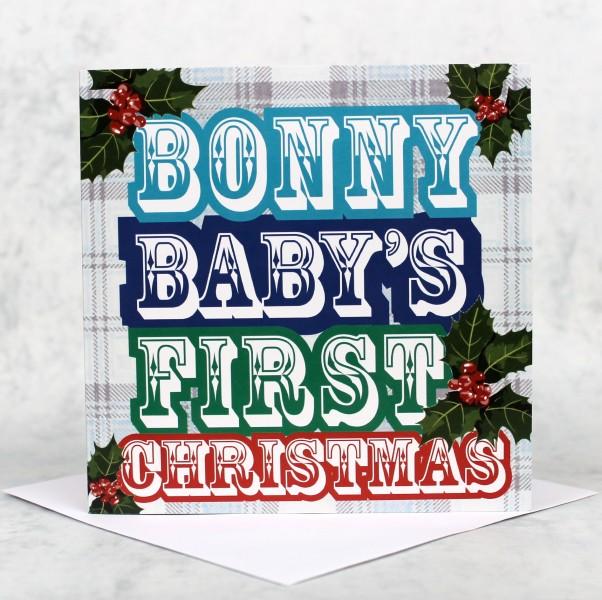 Scottish christmas cards scots speak bonny baby blue xmas product image m4hsunfo