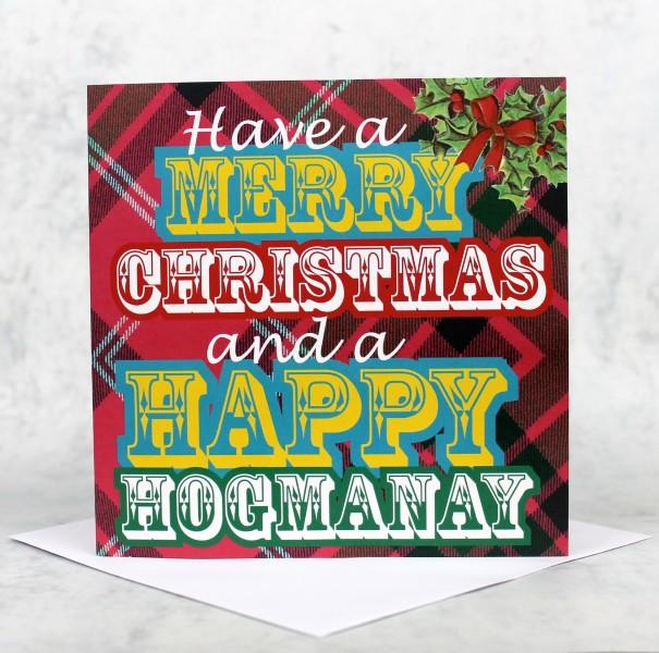 Scottish christmas cards scots speak xmas hogmanay product image m4hsunfo