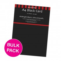 Smooth Black Card 100 Sheets