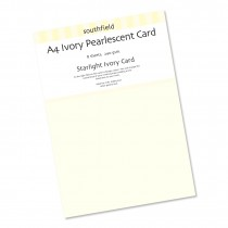 Pearlescent Ivory Card 8 Sheet