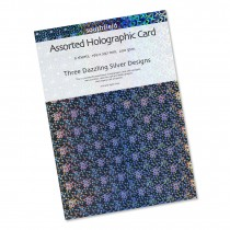 Silver Holographic Card 6 Shee