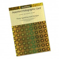 Gold Holographic Card 6 Sheets