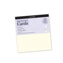 No 8 Ivory Linen Card 100s