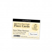 White Hammer Place Card New