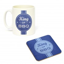 Mug/Coaster Set King of BBQ