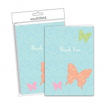 Butterfly Thank You Cards/Envs